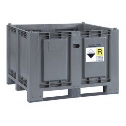 Skrzyniopaleta przemysłowe na zużyte akumulatory i baterie
